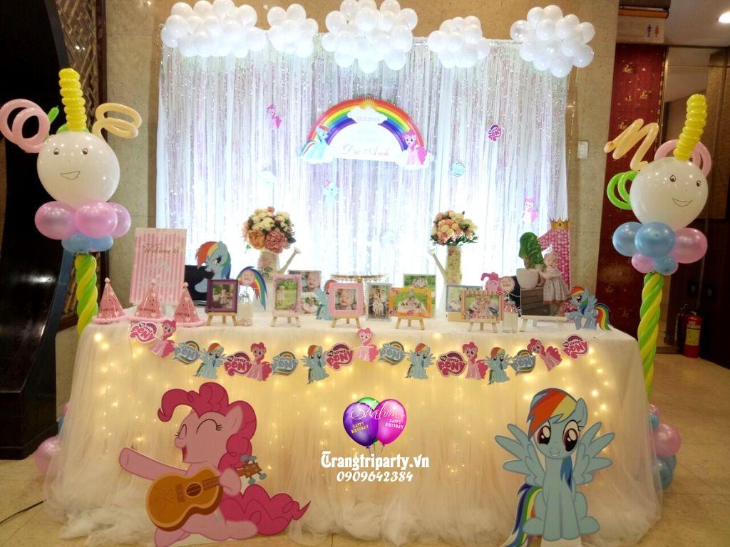 trang tri sinh nhat dep chu de little pony